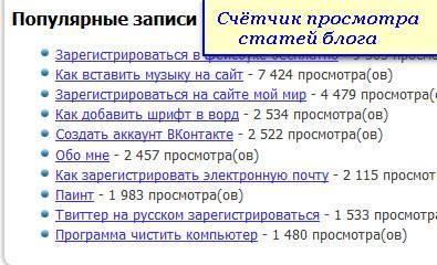 Плагин WP-PostViews. Счетчик для просмотра статей