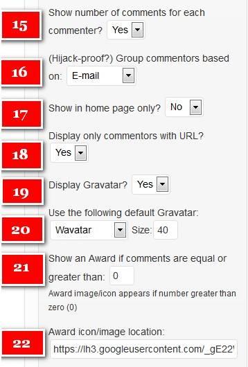 Как увидеть на блоге активных топ комментаторов