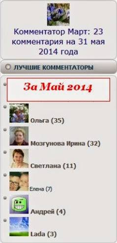 Результаты платного конкурса за май 2014