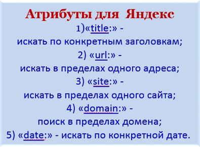 Язык поисковых систем